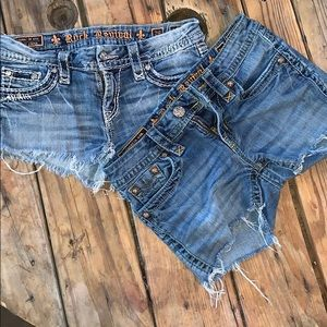 Rick revival cut off shorts size 28 and 27